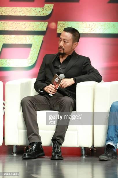 Actor Zhang Hanyu promotes film 'Wine War' at Beijing Foreign Studies University on May 17 2017 in Beijing China