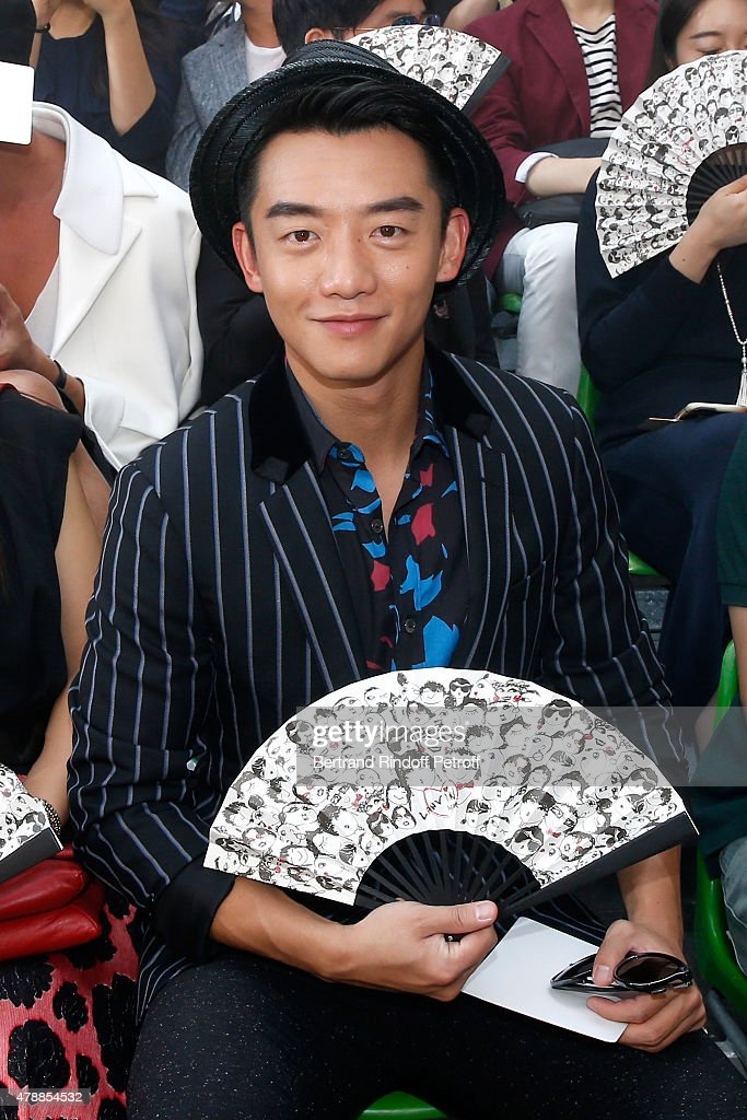 Actor Kai Zheng attends the Lanvin Menswear Spring/Summer 2016 show as part of Paris Fashion Week. Held at 'Ecole Nationale Superieure des Beaux Arts' on June 28, 2015 in Paris, France.