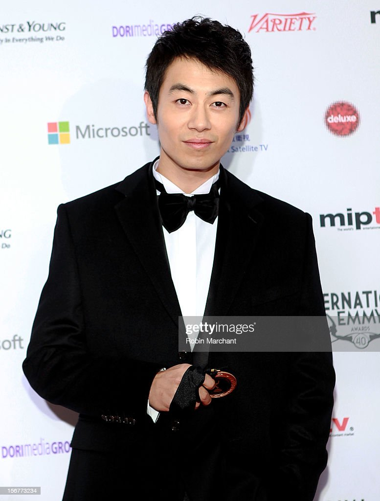 Actor Zhu Yawen attends the 40th International Emmy Awards on November 19, 2012 in New York City.