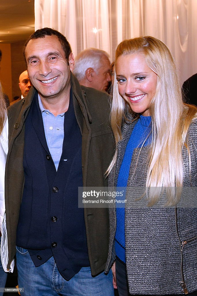 Actor <a gi-track='captionPersonalityLinkClicked' href=/galleries/search?phrase=Zinedine+Soualem&family=editorial&specificpeople=628313 ng-click='$event.stopPropagation()'>Zinedine Soualem</a> (L) and guest attend day five of BNP Paribas Tennis Masters held at Bercy on November 1, 2013 in Paris, France.
