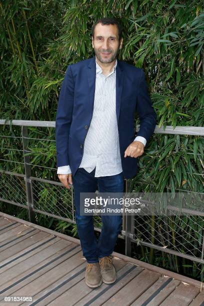 Actor Zinedine Soualem attends the 2017 French Tennis Open Day Seven at Roland Garros on June 3 2017 in Paris France