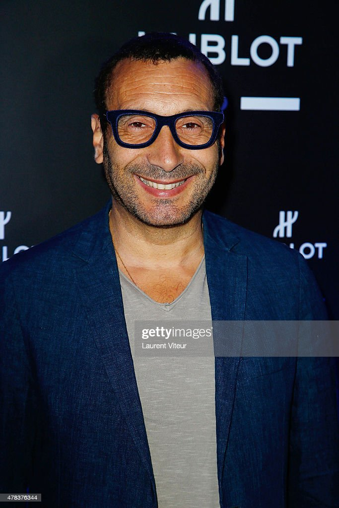 Actor <a gi-track='captionPersonalityLinkClicked' href=/galleries/search?phrase=Zinedine+Soualem&family=editorial&specificpeople=628313 ng-click='$event.stopPropagation()'>Zinedine Soualem</a> attends the Hublot Blue Coktail at Mr Bleu at Palais de Tokyo on June 24, 2015 in Paris, France.
