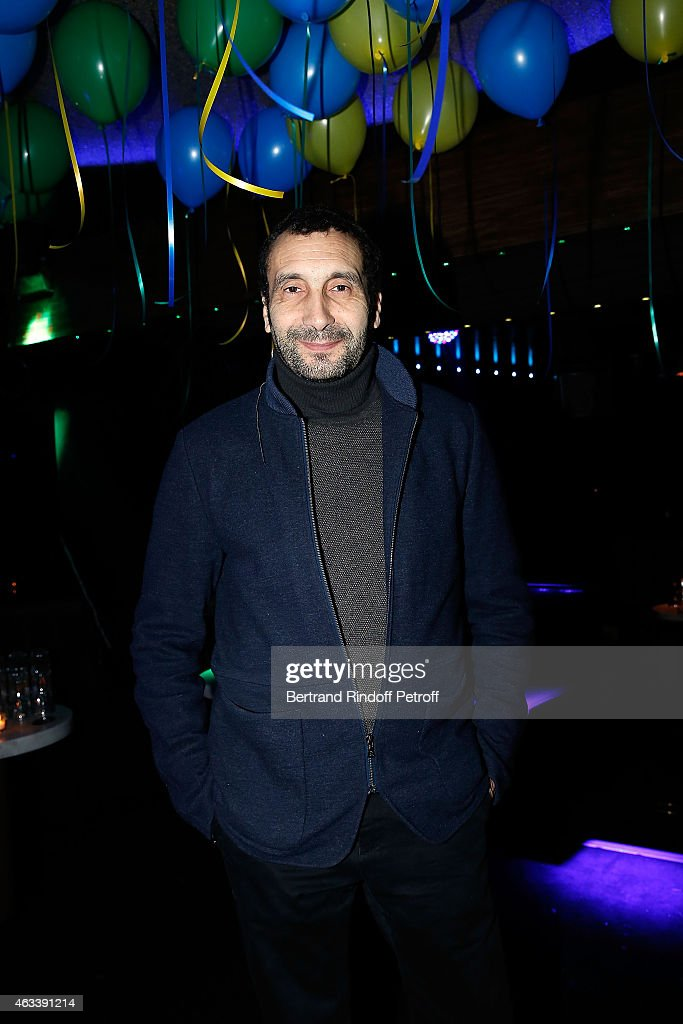 Actor <a gi-track='captionPersonalityLinkClicked' href=/galleries/search?phrase=Zinedine+Soualem&family=editorial&specificpeople=628313 ng-click='$event.stopPropagation()'>Zinedine Soualem</a> attends the Party for the end of the shooting of the Serie '10%' inspired by Dominique Besnehard on February 13, 2015 in Paris, France.