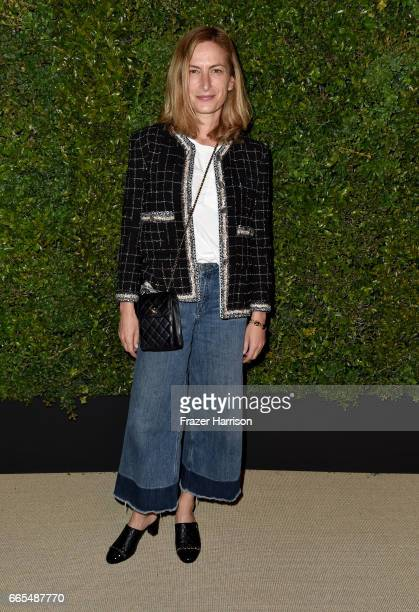 Actor Zoe Cassavetes attends the celebration of Chanel's Gabrielle Bag hosted by Caroline De Maigret and Pharrell Williams at Giorgio Baldi on April...