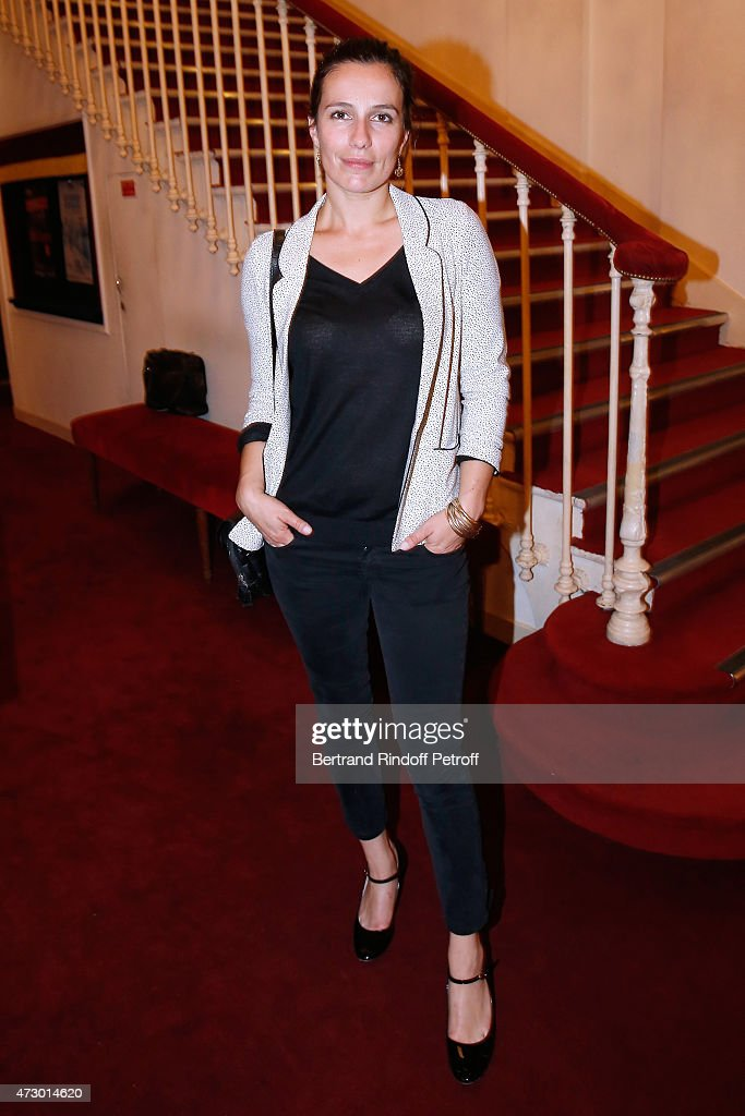 Actor Zoe Felix poses after the 'Open Space' : Theater Play at Theatre de Paris on May 11, 2015 in Paris, France.