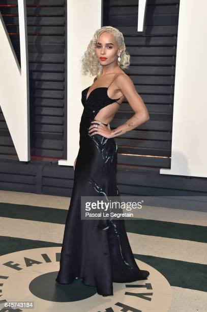 Actor Zoe Kravitz attends the 2017 Vanity Fair Oscar Party hosted by Graydon Carter at Wallis Annenberg Center for the Performing Arts on February 26...