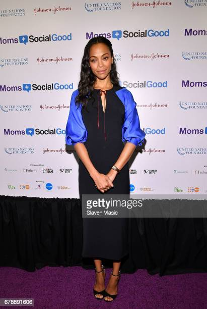 Actor Zoe Saldana attends 5th Annual Moms SocialGood event at AXA Event Production Center on May 4 2017 in New York City