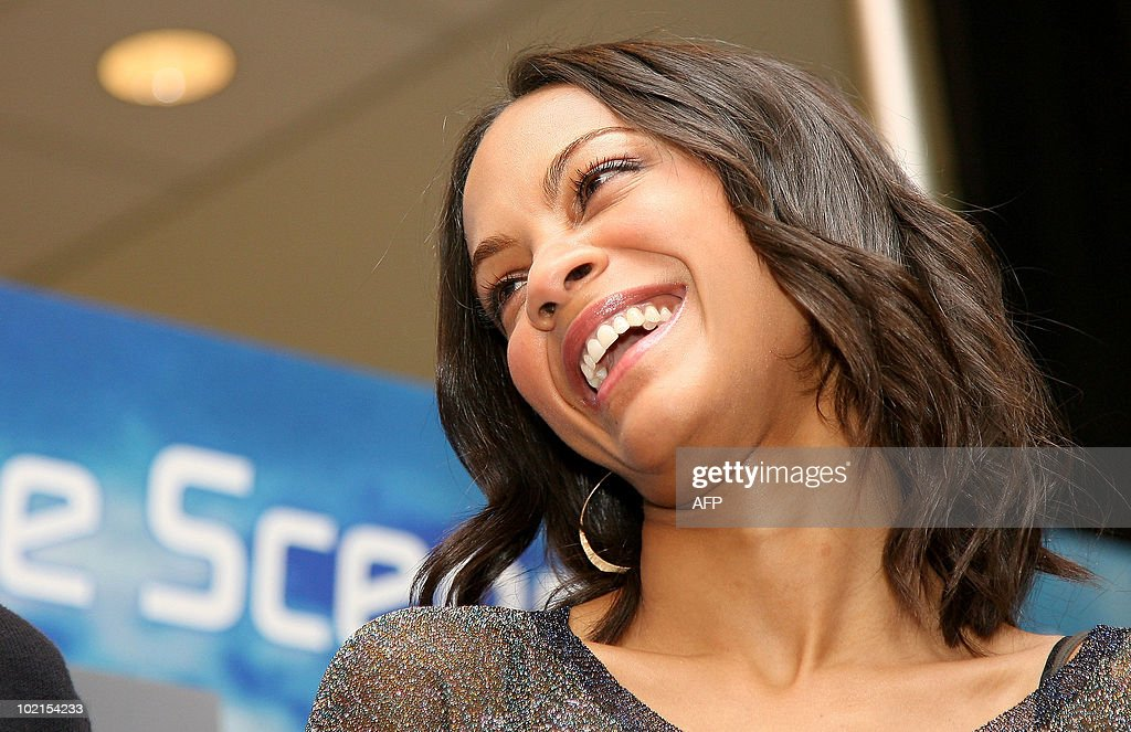 Actor Zoe Saldana attends the launch event of Yoostar 2 at the 2010 E3 Expo in Los Angeles, on June 16, 2010. Typically a stage for new blockbuster titles, the Electronic Entertainment Expo (E3) this year will also be an arena where Sony, Microsoft and Nintendo duel with motion-sensing controls for rival PlayStation 3, Xbox 360, and Wii consoles.