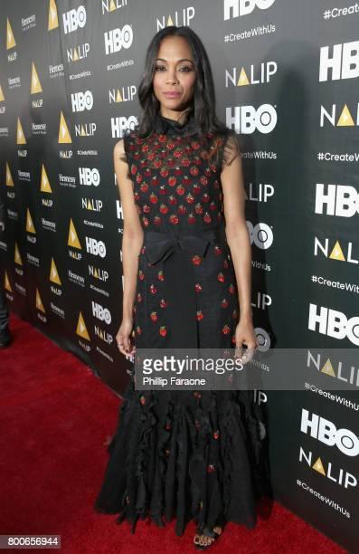 Actor Zoe Saldana attends the NALIP Latino Media Awards at The Ray Dolby Ballroom at Hollywood Highland Center on June 24 2017 in Hollywood California