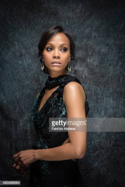 Actor Zoe Saldana is photographed for the Hollywood Reporter in Cannes France