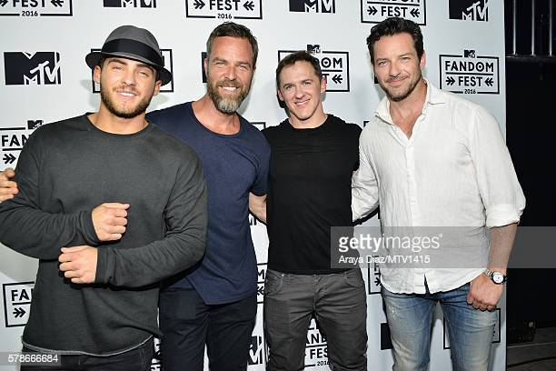 Actora Cody Christian JR Bourne executive producer Jeff Davis and Ian Bohen attend the MTV Fandom Awards San Diego at PETCO Park on July 21 2016 in...