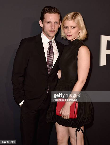 Actora Jamie Bell and Kate Mara attend Prada Presents 'Past Forward' by David O Russell premiere at Hauser Wirth Schimmel on November 15 2016 in Los...