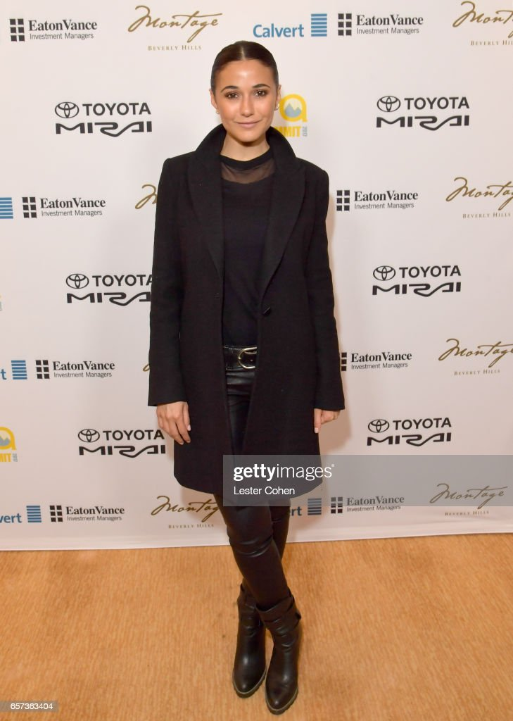 Actor/activist Emmanuelle Chriqui attends the EMA IMPACT Summit hosted by the Environmental Media Association presented by Toyota Mirai and Calvert Research and Management at Montage Beverly Hills on March 24, 2017 in Beverly Hills, California.