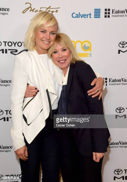 Actor/activist Malin Akerman and President/CEO of EMA Debbie Levin attends the EMA IMPACT Summit hosted by the Environmental Media Association...