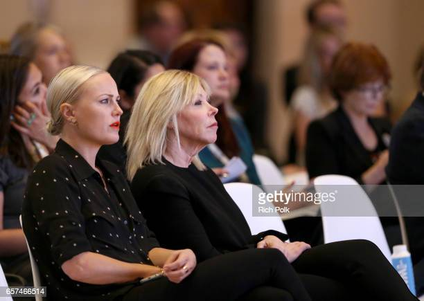 Actor/activist Malin Akerman and President/CEO of EMA Debbie Levin attend the EMA IMPACT Summit hosted by the Environmental Media Association...