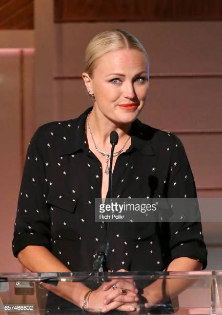 Actor/activist Malin Akerman speaks onstage during the 'How VCs have Shaped Our World Today Tomorrow and How' and 'How Entrepreneurs are Our New Rock...