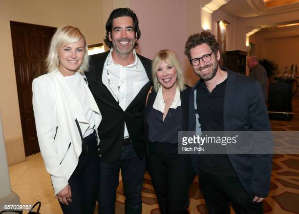 Actor/activist Malin Akerman TV personality Carter Oosterhouse president/CEO of EMA Debbie Levin and executive director of Business Development at...