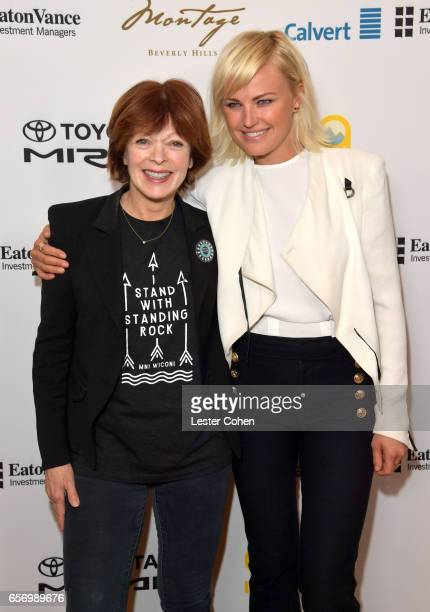 Actor/activist/moderator Frances Fisher and actor/activist Malin Akerman attend the 'Where We Went Wrong and How We Can Change the Future' panel at...