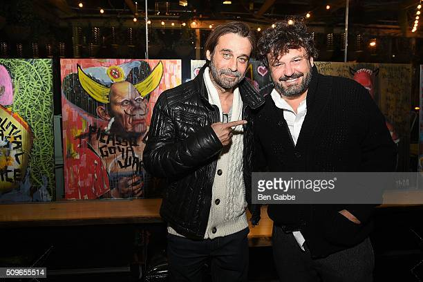 Actor/artist Jordi Molla and artist Domingo Zapata attend Gansevoort Meatpacking NYC presents Domingo Zapata's 'Amigos Intervention' at Gansevoort...