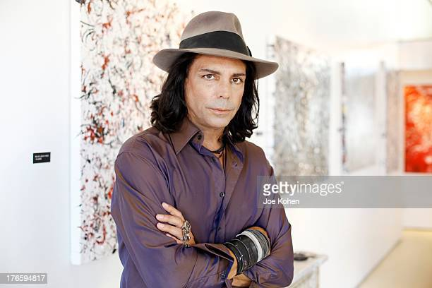 Actor/artist Richard Grieco Hosts Opening Night Gala For His OneMan Art Exhibit 'Sanctum Of A Dreamer' at Gallerie Sparta on August 15 2013 in West...
