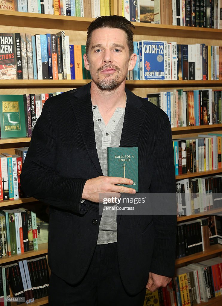 "Ethan Hawke Signs Copies Of ""Rules For A Knight"""