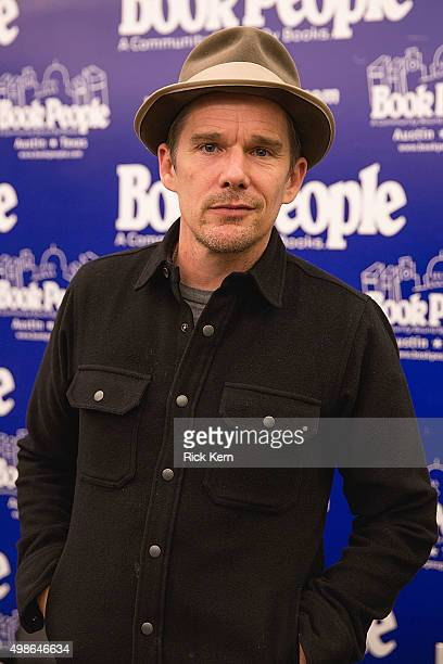Actor/author Ethan Hawke signs copies of his new book 'Rules for a Knight' at BookPeople on November 24 2015 in Austin Texas