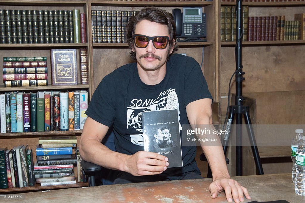 Actor/Author James Franco promotes his new Chapbook 'Straight James/Gay James' at the Strand Bookstore on June 26, 2016 in New York City.