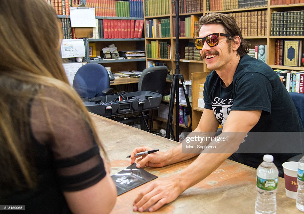 Actor/Author <a gi-track='captionPersonalityLinkClicked' href=/galleries/search?phrase=James+Franco&family=editorial&specificpeople=577480 ng-click='$event.stopPropagation()'>James Franco</a> promotes his new Chapbook 'Straight James/Gay James' at the Strand Bookstore on June 26, 2016 in New York City.