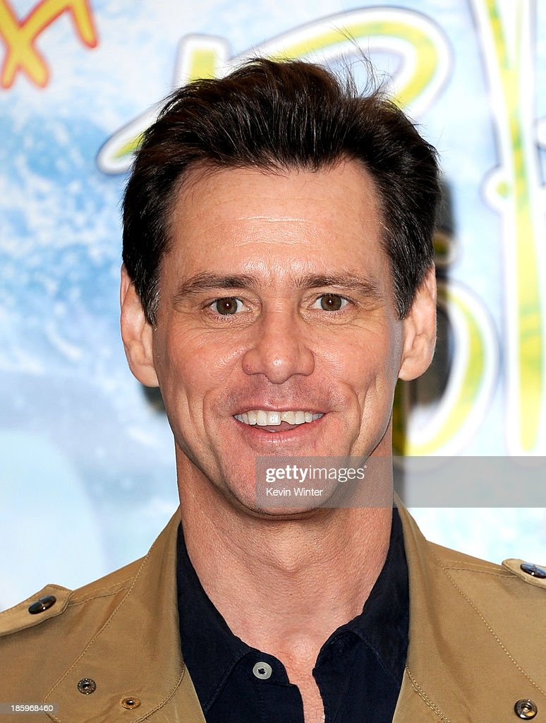 Actor/author Jim Carrey appears at a reading and book signing for 'How Roland Rolls' at Barnes and Noble on October 26, 2013 in Los Angeles, California