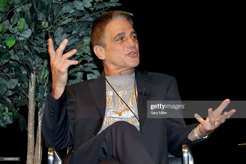 Actor/author Tony Danza speaks about his new book 'I'd Like to Apologize to Every Teacher I Ever Had: My Year as a Rookie Teacher at Northeast High' during the Texas Book Festival at the Paramount Theater on October 27, 2012 in Austin, Texas.