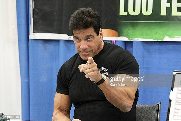 Actor/bodybuilder Lou Ferrigno appears during the Wizard World Austin Comic Convention at the Austin Convention Center on October 27 2012 in Austin...