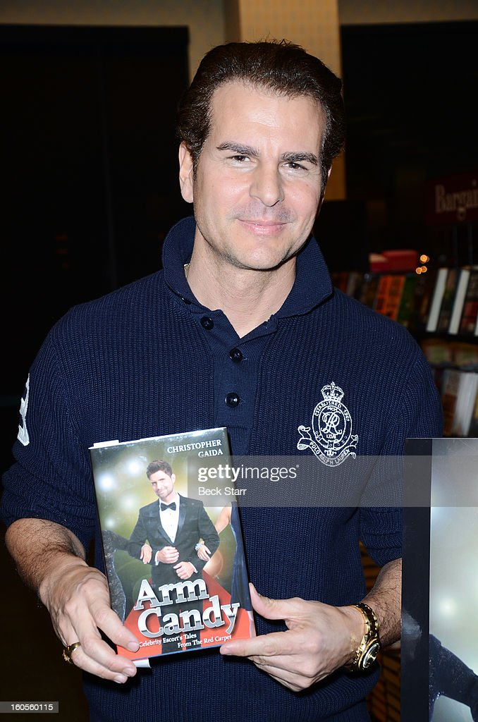 Actor/book cover producer <a gi-track='captionPersonalityLinkClicked' href=/galleries/search?phrase=Vincent+De+Paul&family=editorial&specificpeople=648138 ng-click='$event.stopPropagation()'>Vincent De Paul</a> attends book signing of Chris Gaida's new book 'Arm Candy: A Celebrity Escort's Tales From The Red Carpet' at Barnes & Noble bookstore at The Grove on January 31, 2013 in Los Angeles, California.