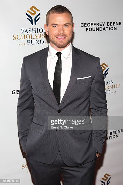 Actor/Brand Ambassador for Geoffrey Beene Kellan Lutz attends the 80th Annual YMA Fashion Scholarship Fund Geoffrey Beene National Scholarship Awards...