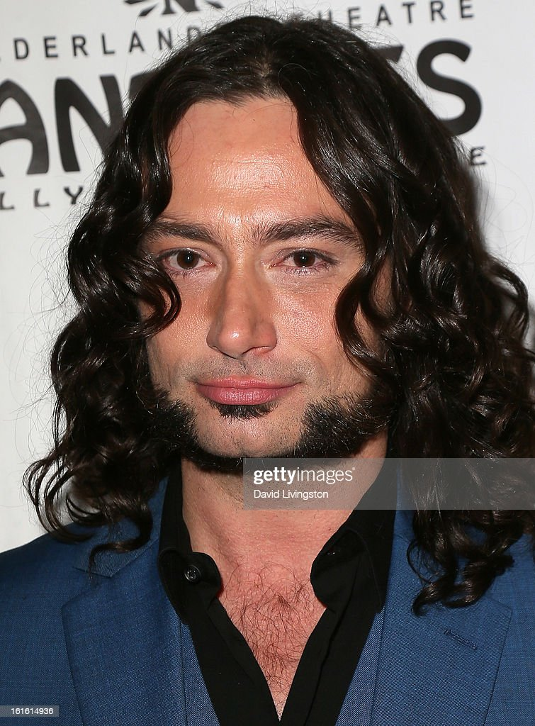 Actor/cast member Constantine Maroulis poses at the opening night of 'Jekyll & Hyde' at the Pantages Theatre on February 12, 2013 in Hollywood, California.