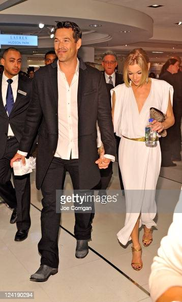 Actor/Charisma spokesperson Eddie Cibrian and wife/american country musician LeAnn Rimes at Bloomingdale's 59th Street Store on September 8 2011 in...