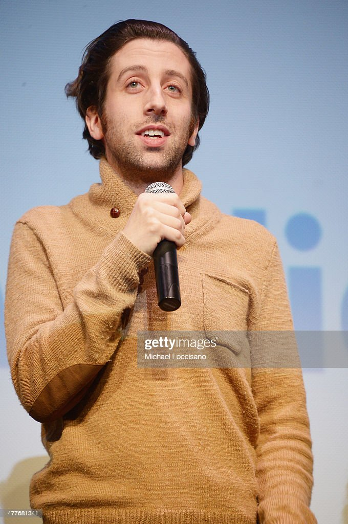 Actor/co-director <a gi-track='captionPersonalityLinkClicked' href=/galleries/search?phrase=Simon+Helberg&family=editorial&specificpeople=3215017 ng-click='$event.stopPropagation()'>Simon Helberg</a> takes part in a Q&A following the 'We'll Never Have Paris' premiere during the 2014 SXSW Music, Film + Interactive Festival at the Topfer Theatre at ZACH on March 10, 2014 in Austin, Texas.