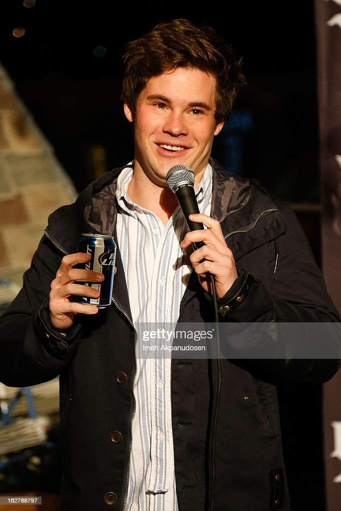 Actor/comedian Adam DeVine performs at 98.7 FM's Penthouse Party Pad at The Historic Hollywood Tower on February 26, 2013 in Hollywood, California.