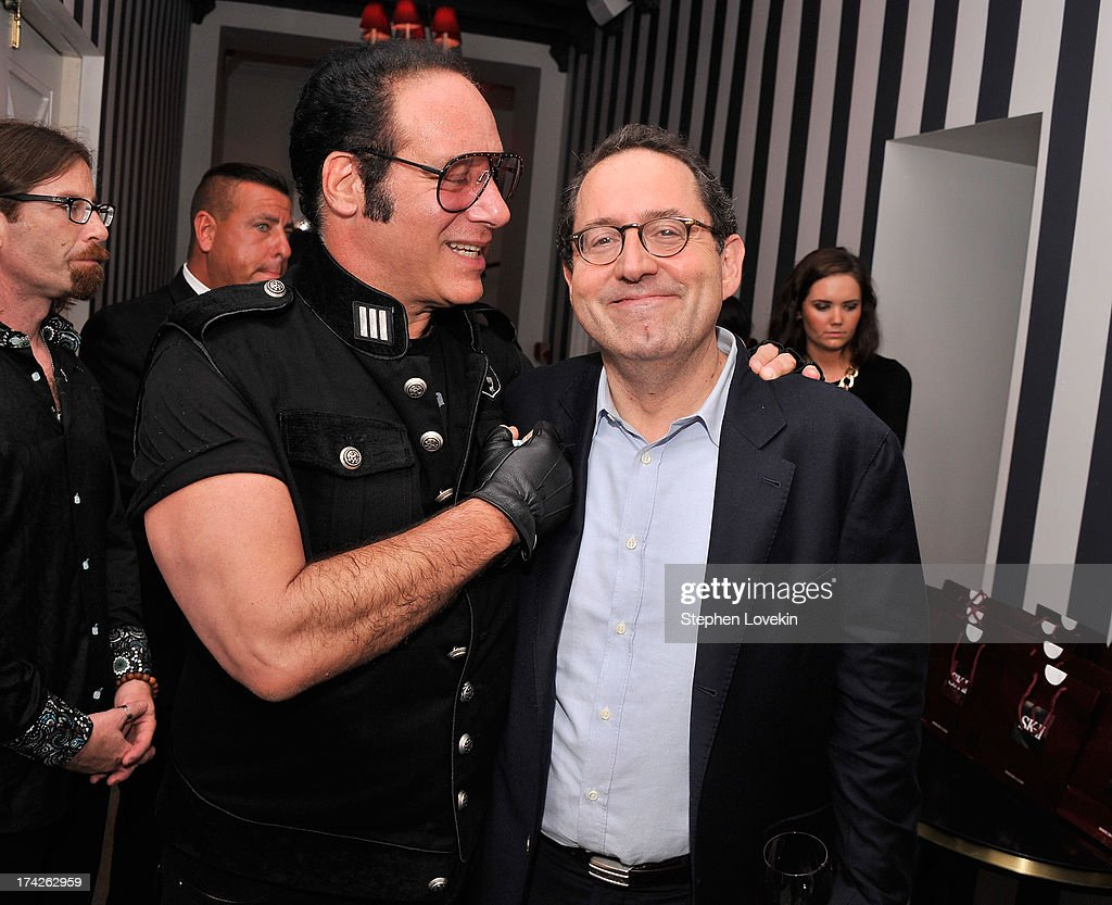 Actor/comedian <a gi-track='captionPersonalityLinkClicked' href=/galleries/search?phrase=Andrew+Dice+Clay&family=editorial&specificpeople=678985 ng-click='$event.stopPropagation()'>Andrew Dice Clay</a> and Sony Pictures Classics co-president Michael Barker attend the after party for the New York Premiere of 'Blue Jasmine' at Harlow on July 22, 2013 in New York City.