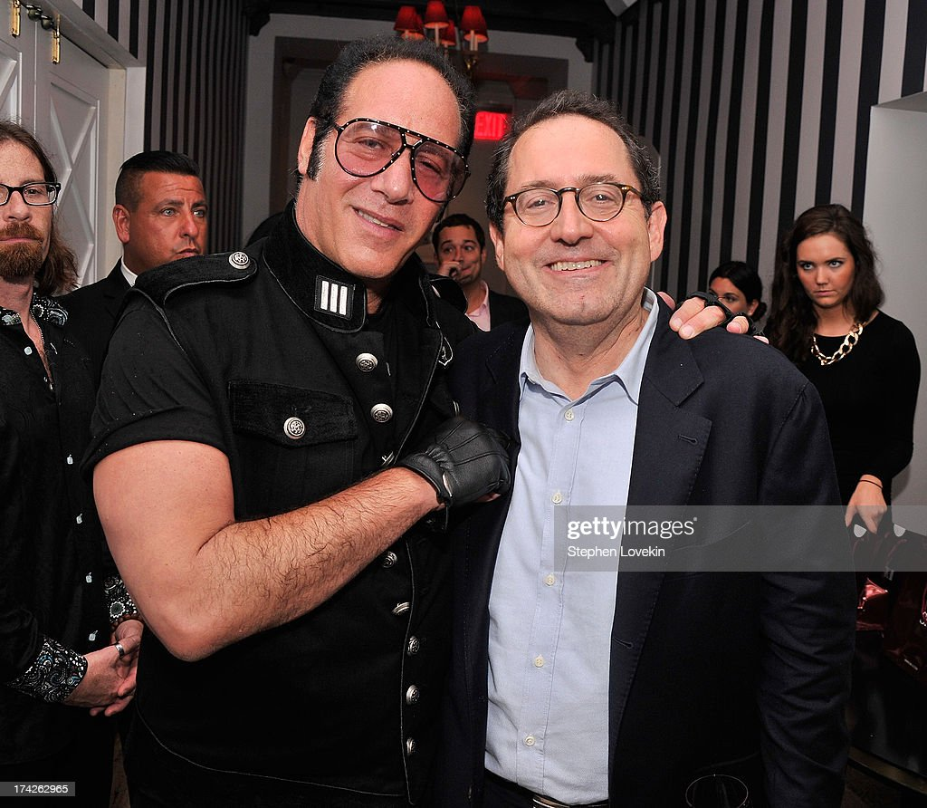 Actor/comedian <a gi-track='captionPersonalityLinkClicked' href=/galleries/search?phrase=Andrew+Dice+Clay&family=editorial&specificpeople=678985 ng-click='$event.stopPropagation()'>Andrew Dice Clay</a> and Sony Pictures Classics co-president <a gi-track='captionPersonalityLinkClicked' href=/galleries/search?phrase=Michael+Barker+-+CEO&family=editorial&specificpeople=236048 ng-click='$event.stopPropagation()'>Michael Barker</a> attend the after party for the New York Premiere of 'Blue Jasmine' at Harlow on July 22, 2013 in New York City.