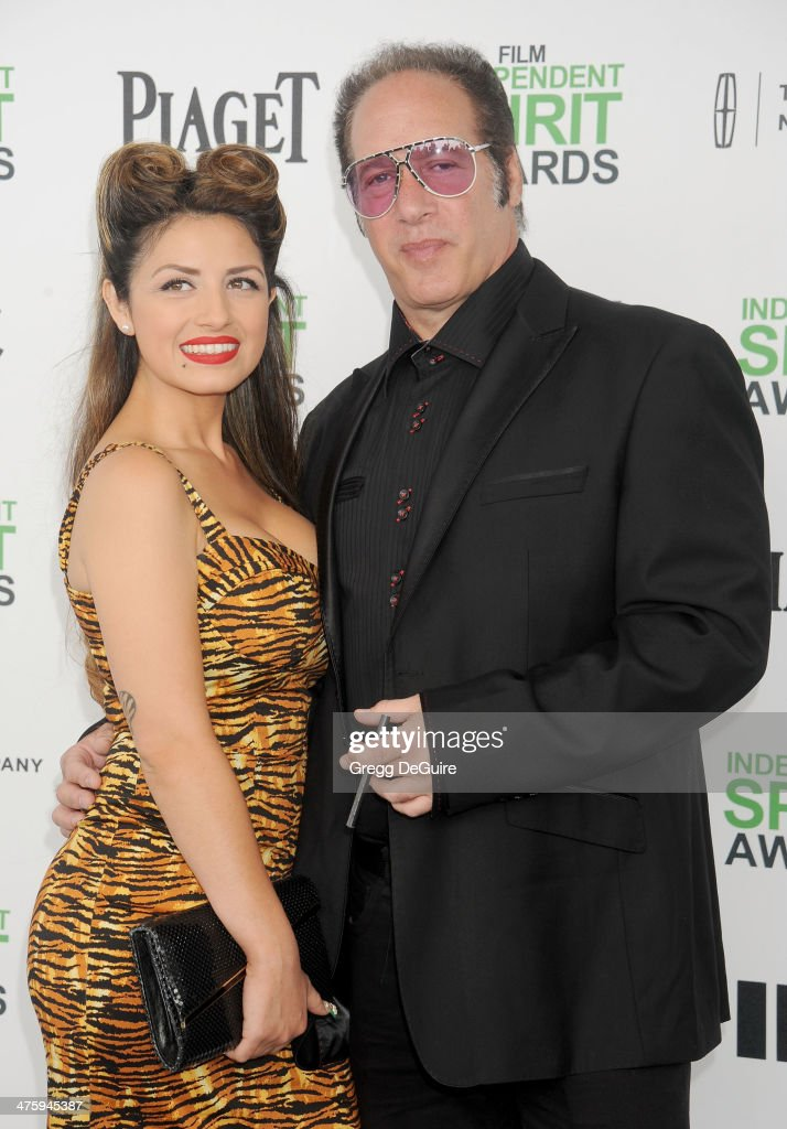 Actor/comedian Andrew Dice Clay and Valerie Silverstein arrive at the 2014 Film Independent Spirit Awards on March 1, 2014 in Santa Monica, California.