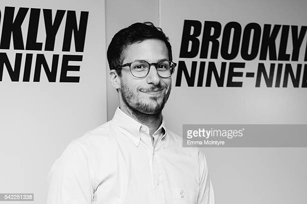 Actor/comedian Andy Samberg attends the FYC at UCB for 'Brooklyn NineNine' at UCB Sunset Theater on June 22 2016 in Los Angeles California
