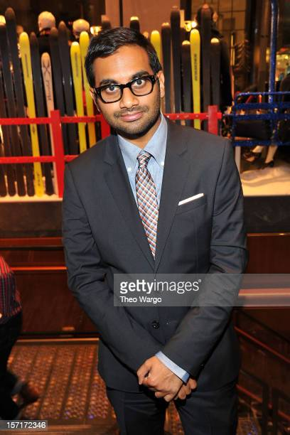 Actor/comedian Aziz Ansari attends Tommy Hilfiger GQ celebrate Men of New York at the 5th Avenue Flagship on November 29 2012 in New York City