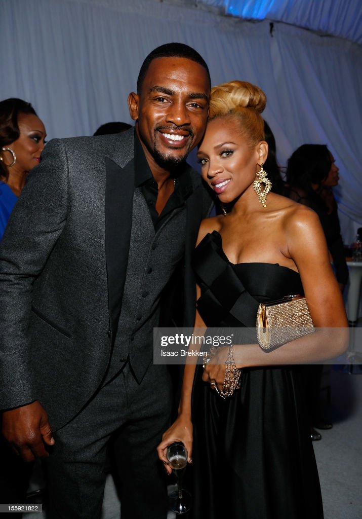 Actor/comedian Bill Bellamy and rapper Lil Mama arrive to the Soul Train Awards 2012 Glade Suite at PH Live at Planet Hollywood Resort & Casino on November 8, 2012 in Las Vegas, Nevada. .