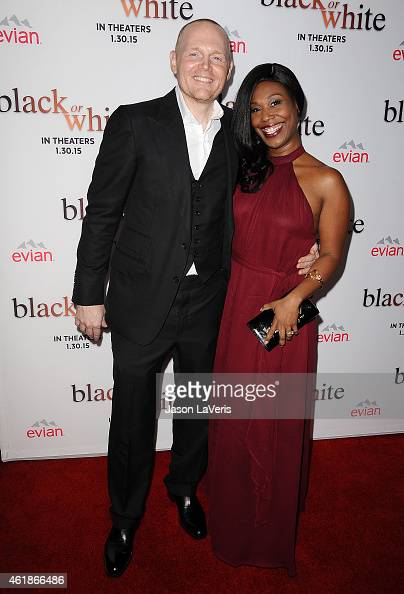 Actor/comedian Bill Burr and wife Nia Renee Hill attend the premiere of 'Black or White' at Regal Cinemas LA Live on January 20 2015 in Los Angeles...