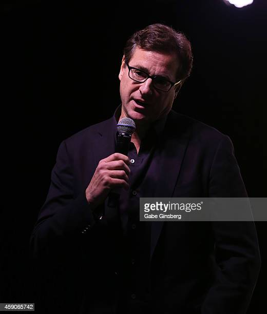 Actor/comedian Bob Saget performs on stage at Live Your Passion Celebrity Benefit at The Venetian Las Vegas on November 15 2014 in Las Vegas Nevada
