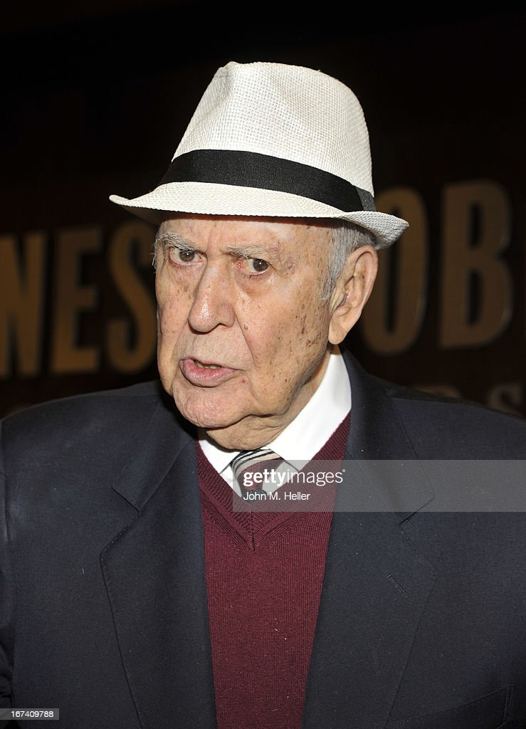 Actor/Comedian Carl Reiner signs copies of his new book 'I Remember Me' at Barnes & Noble bookstore at The Grove on April 24, 2013 in Los Angeles, California.