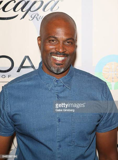 Actor/comedian Chris Spencer attends the Coach Woodson Las Vegas Invitational red carpet and pairings party at 1 OAK Nightclub at The Mirage Hotel...