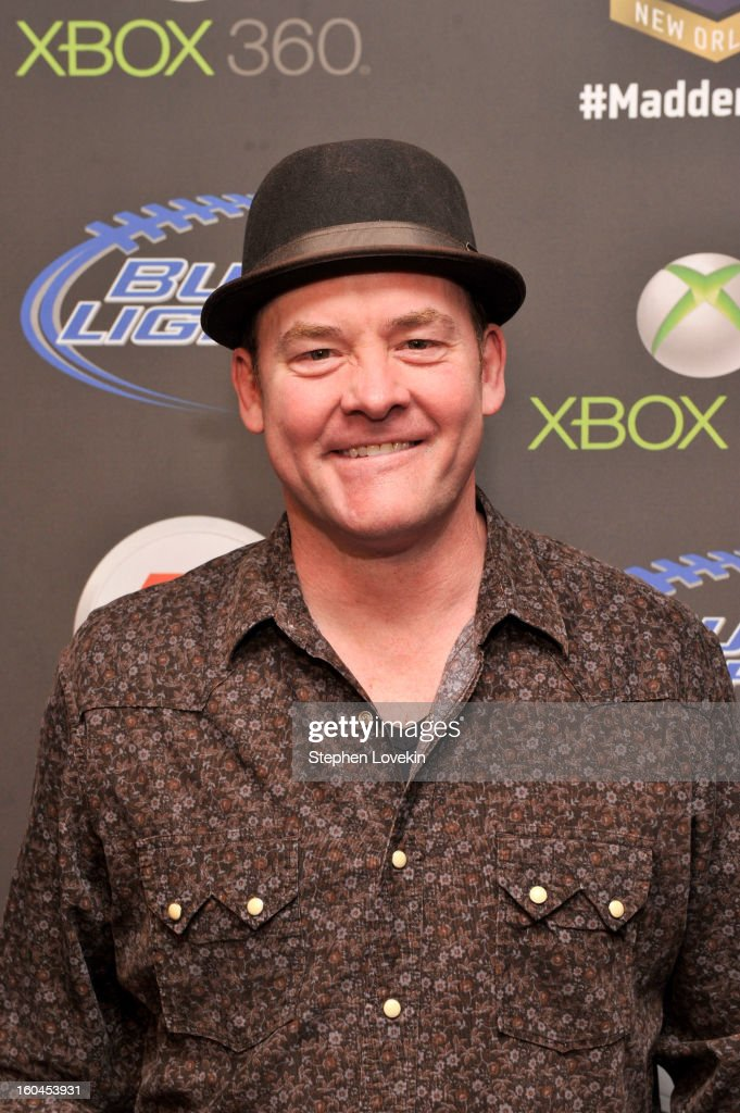 Actor/comedian David Koechner arrives at EA SPORTS Madden Bowl XIX at the Bud Light Hotel on January 31 2013 in New Orleans Louisiana
