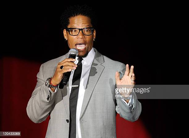 Actor/comedian DL Hughley performs his standup routine at The Orleans Hotel Casino August 5 2011 in Las Vegas Nevada