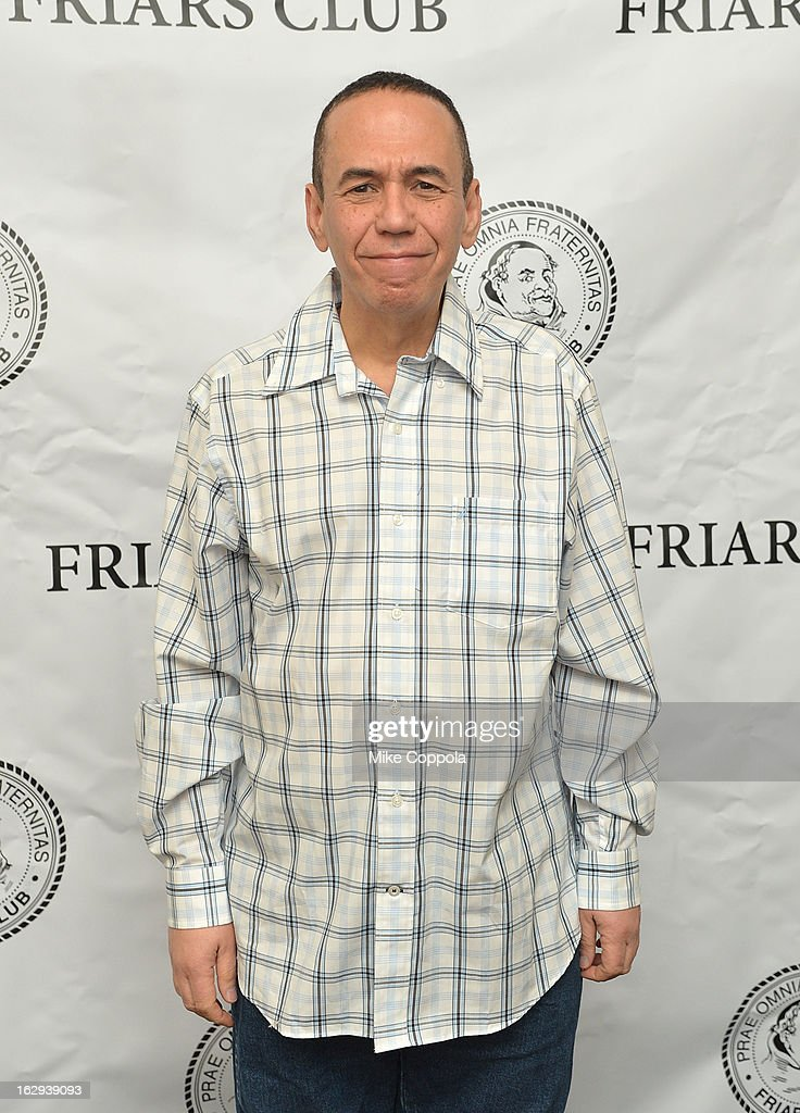 Actor/comedian Gilbert Gottfried attends The Friars Club: 'So You Think You Can Roast?' Celebrating Ricky Schroder at New York Friars Club on March 1, 2013 in New York City.